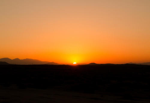 Sunset in the desert, Edwards Air Force Base